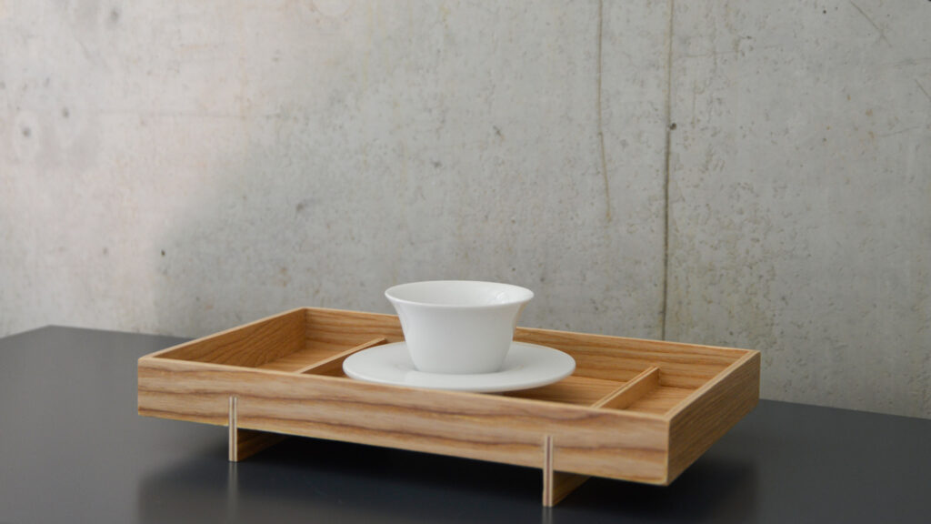Japanese style wooden tray