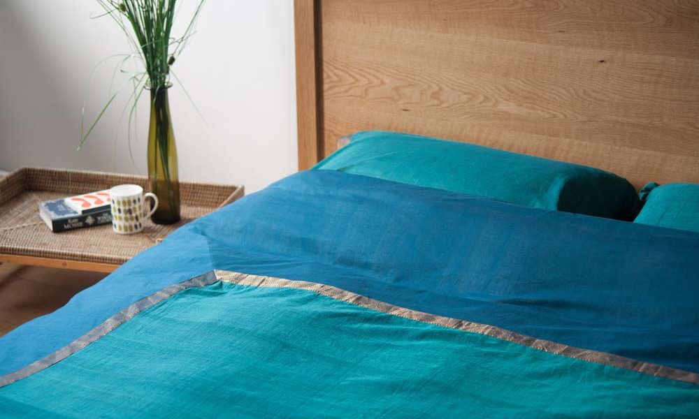 Indian Bedding For An Summer, Gold And Sage Green Bedding
