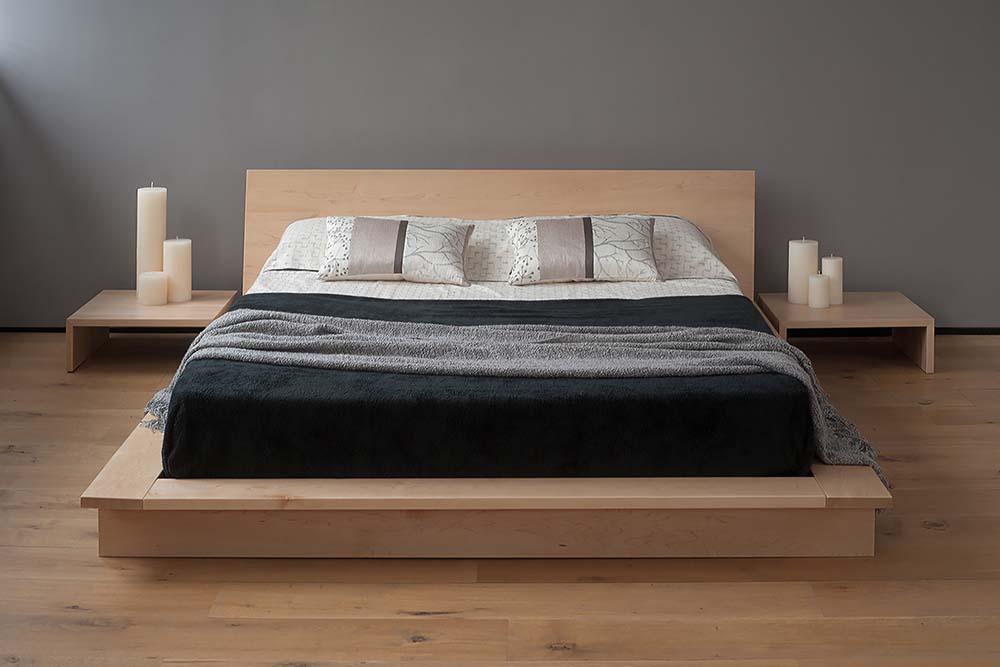 The Oregon platform bed - low wooden loft bed
