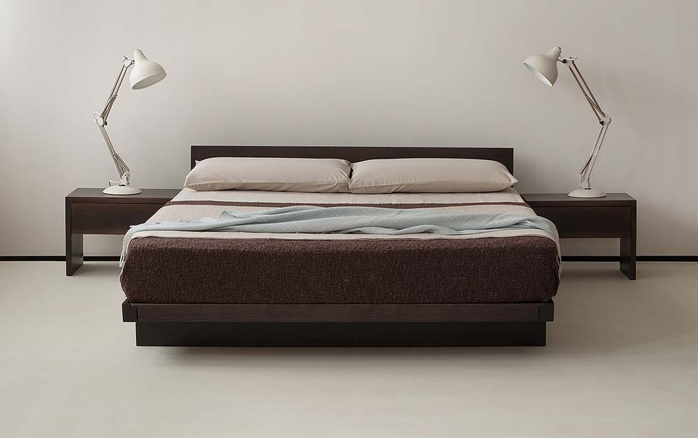 Kumo Japanese Style low wooden Bed Base