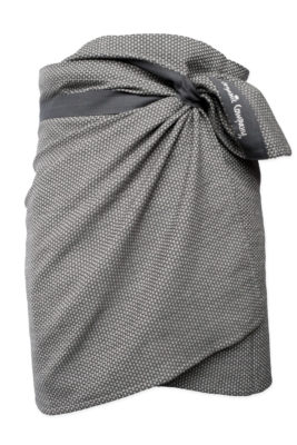 Towel to wrap around you - Dark grey waffle