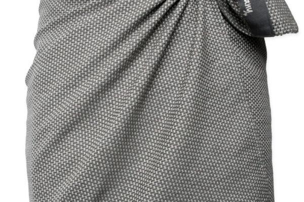 Towel to wrap around you - Dark grey waffle