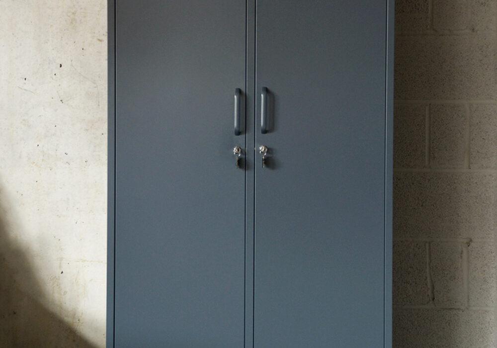 wardrobe metal storage locker in slate grey colour