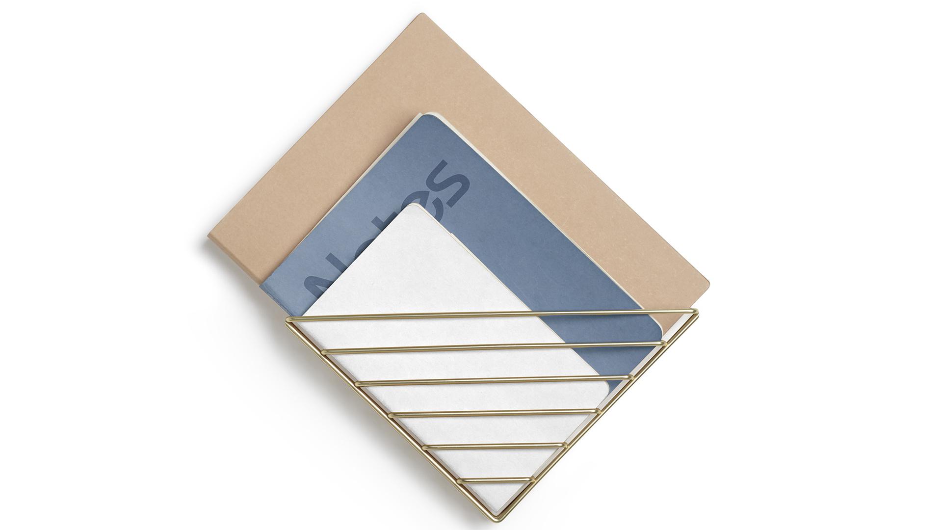 Strum wall mounted rack - brass