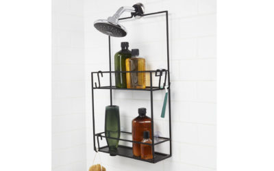 Umbra Cubiko shower caddy - black