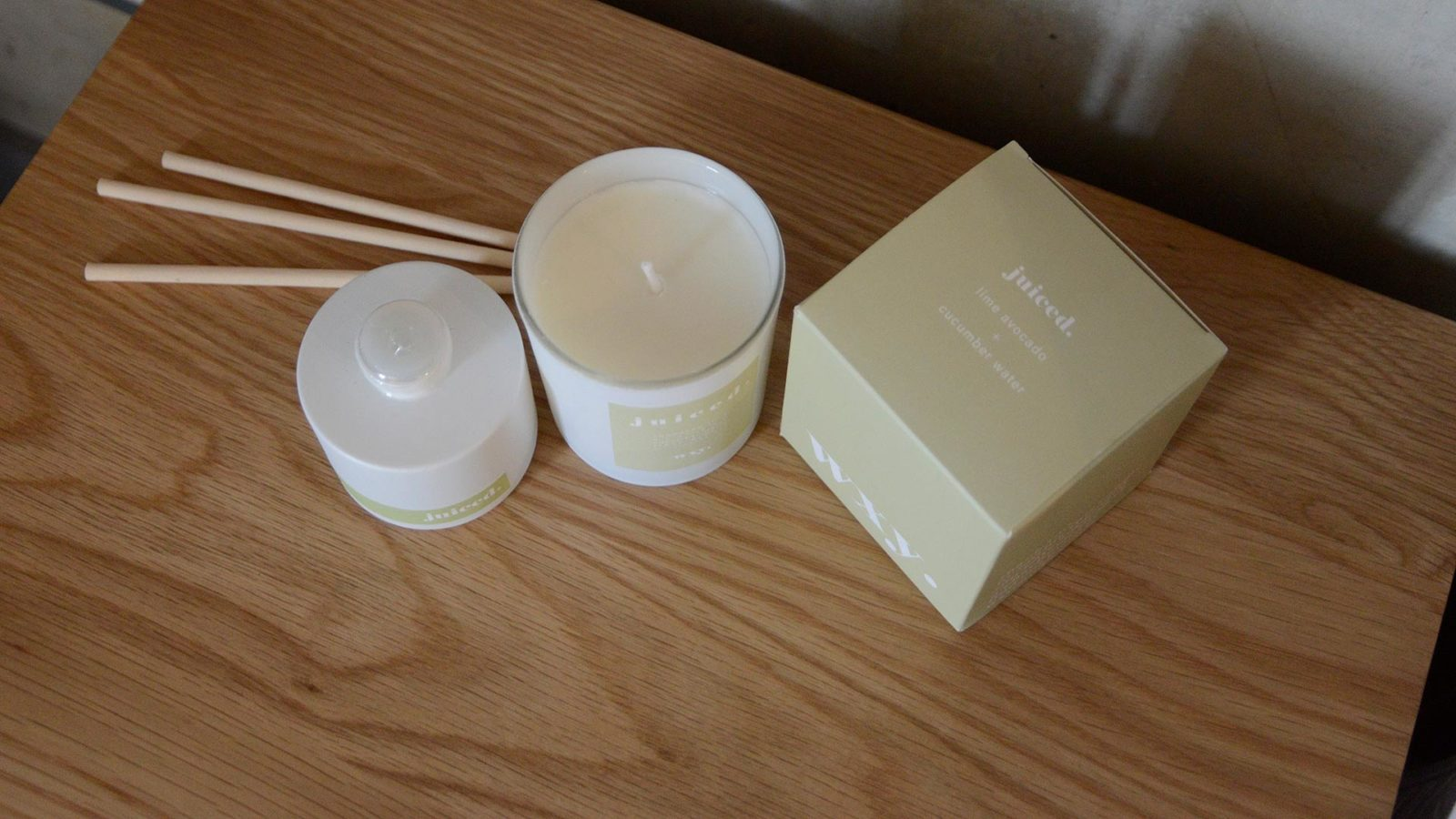 scented candles and diffusers