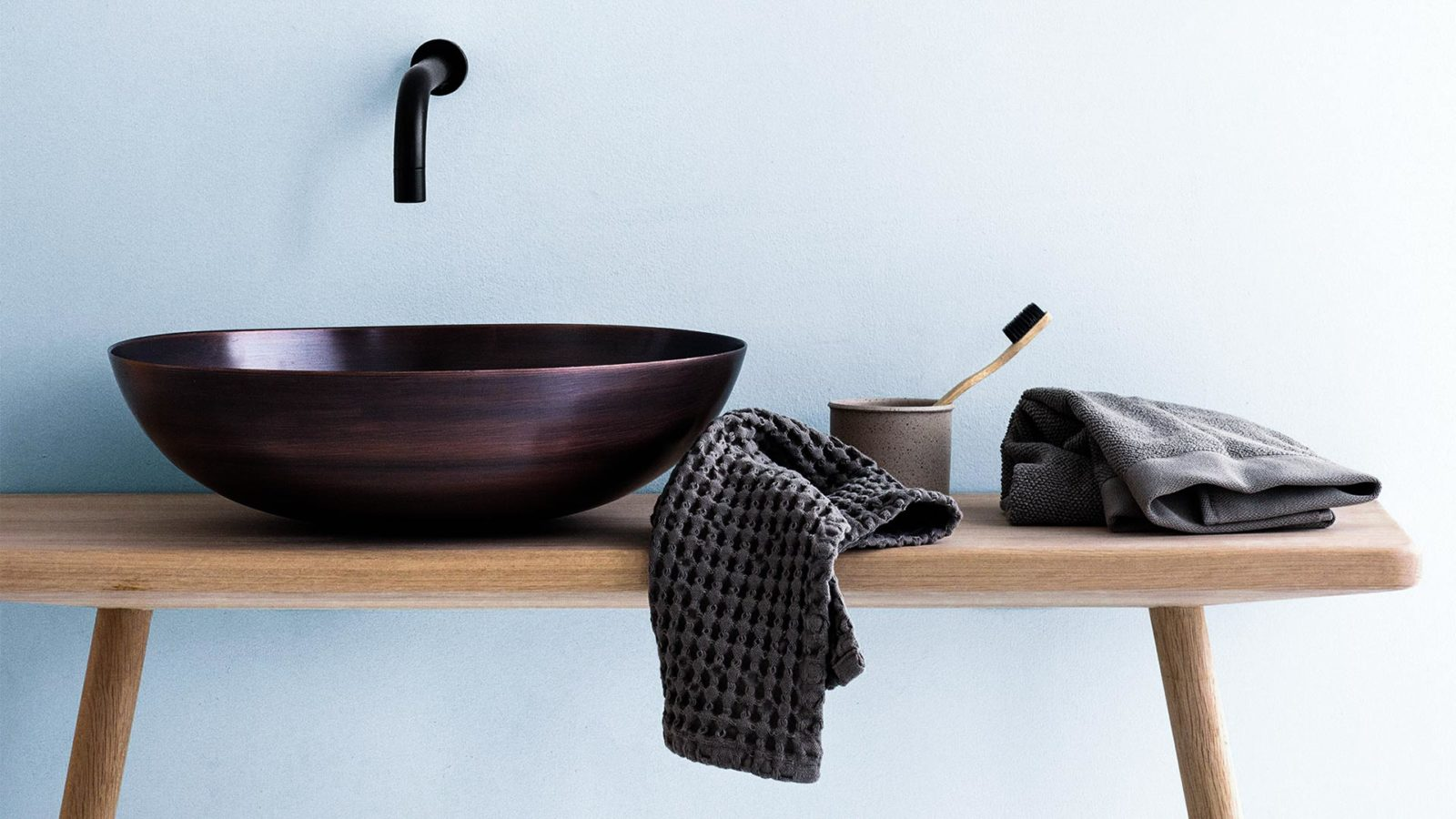 organic waffle textured cotton towels
