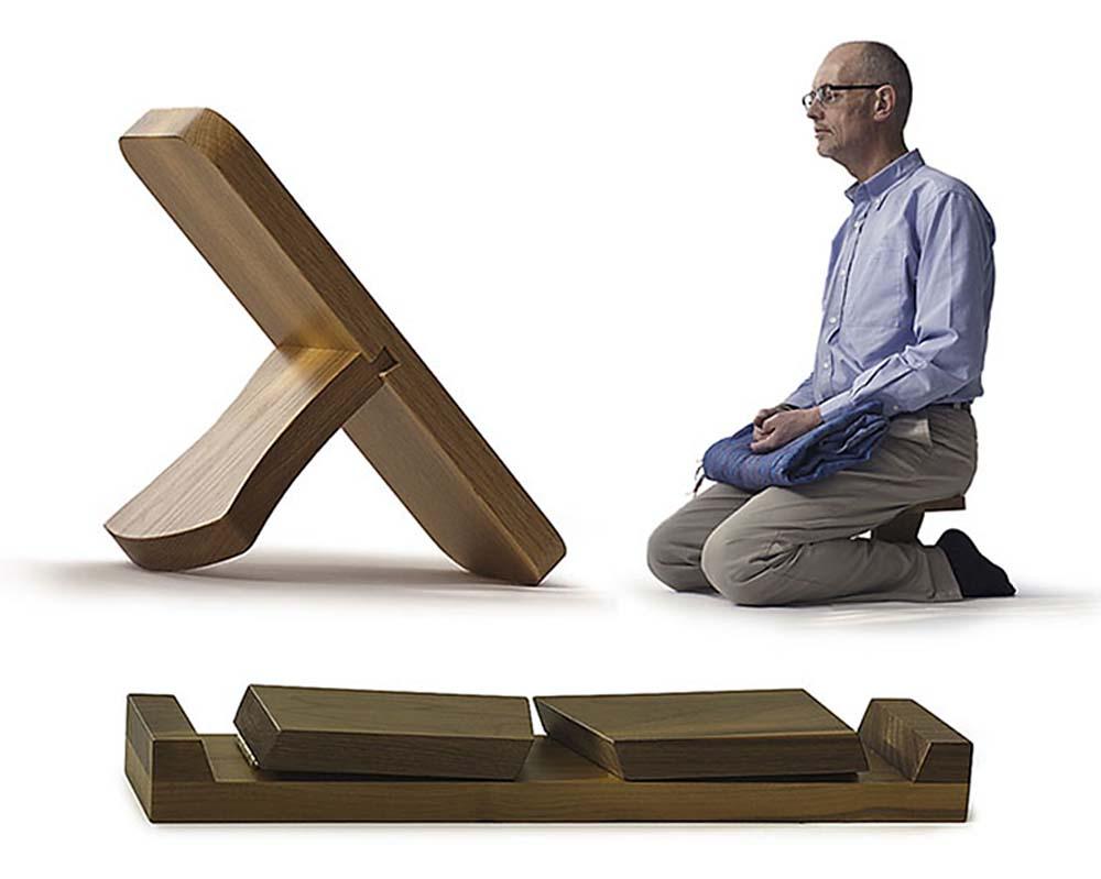 Meditation Posture Wooden Meditation Stools Natural