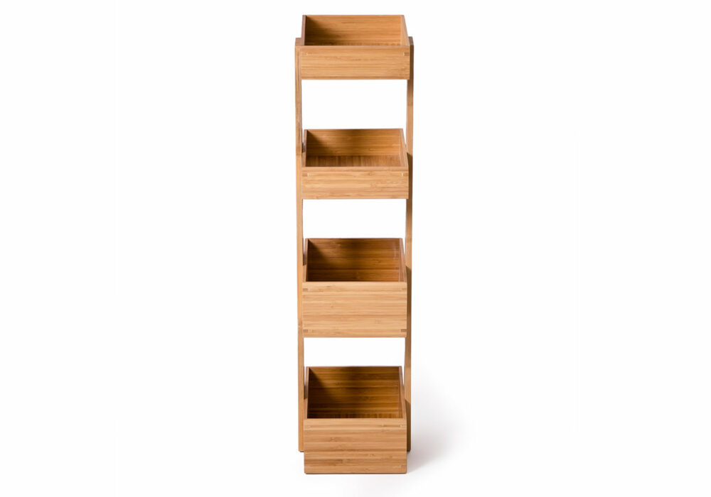 4 tray bathroom storage caddy made from Bamboo