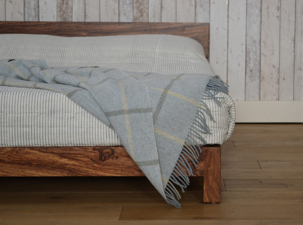 Unique African hardwood Nevada bed handmade by natural bed company