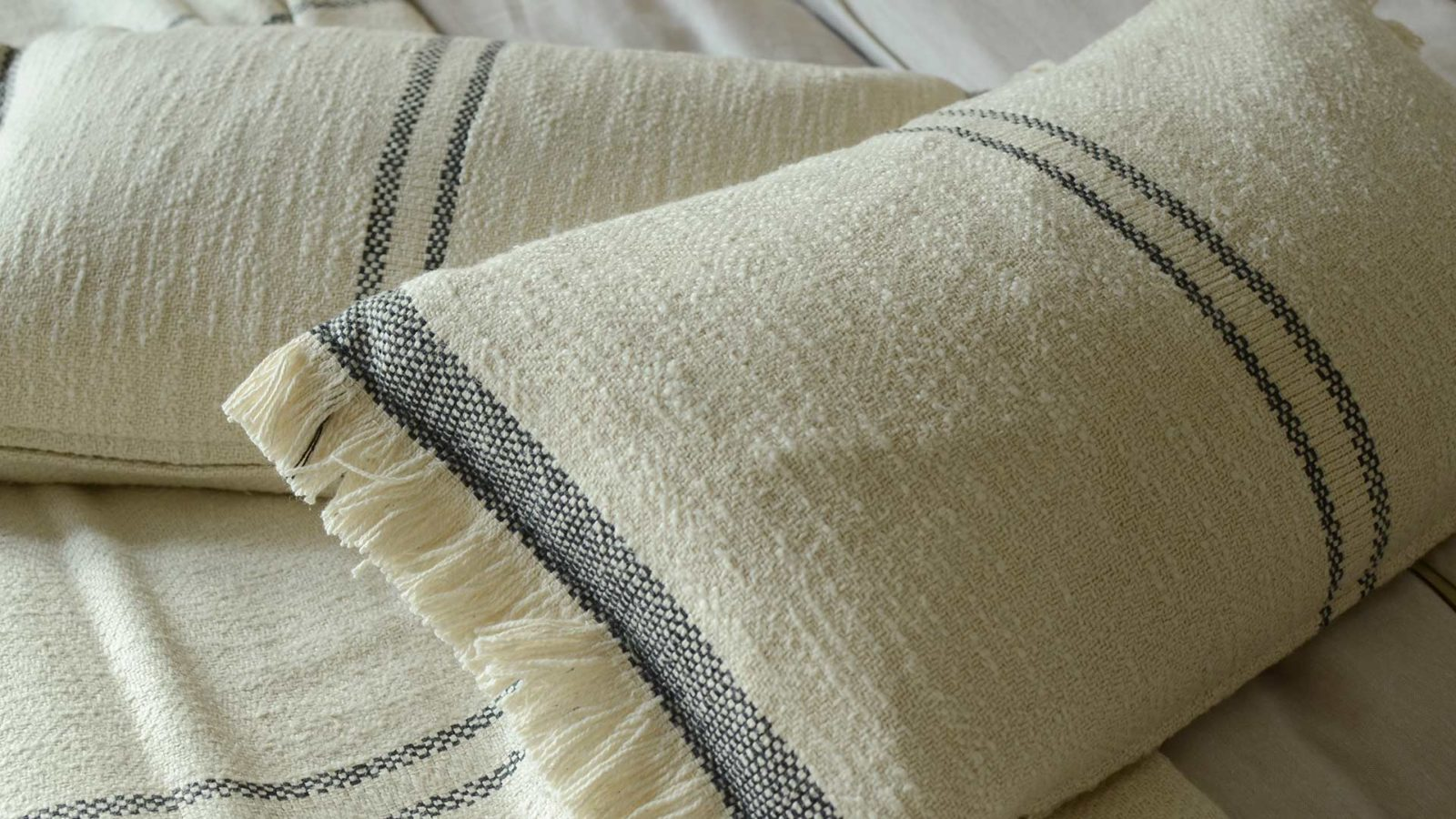 striped cotton cushions