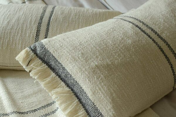 striped cotton cushions