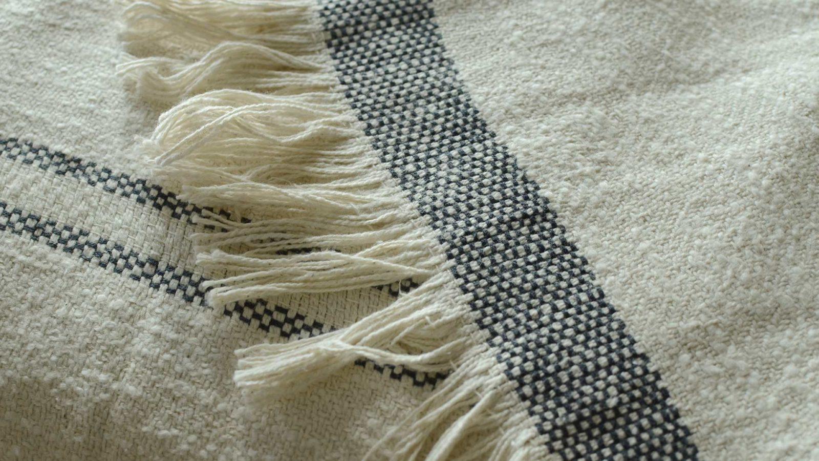 andas stripe large soft cotton throw