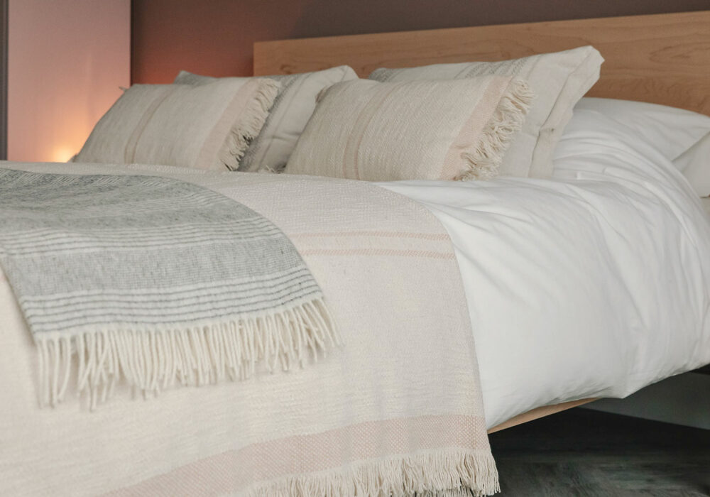 andas soft cotton cushions - blush pink