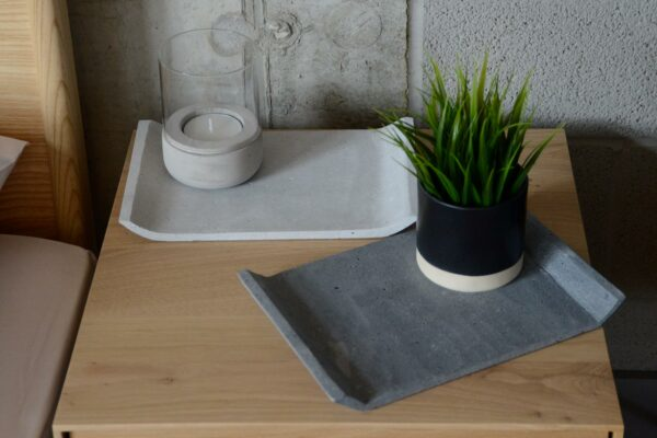 modern concrete trays