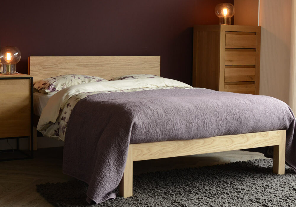 The Tibet solid wood bed comes in a choice of wood and in a range of bed sizes
