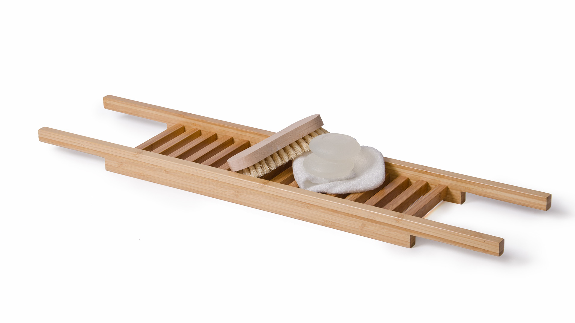 Modern Bamboo Bath Bridge | Bath Accessories | Natural Bed Company