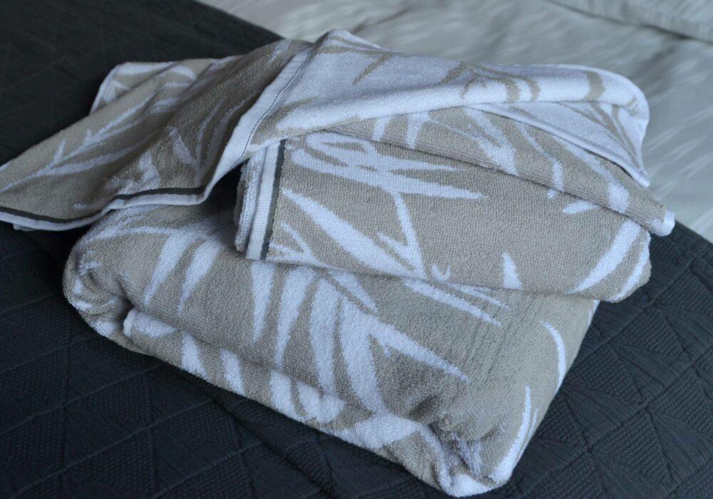 Warm Silver Bamboo Towel