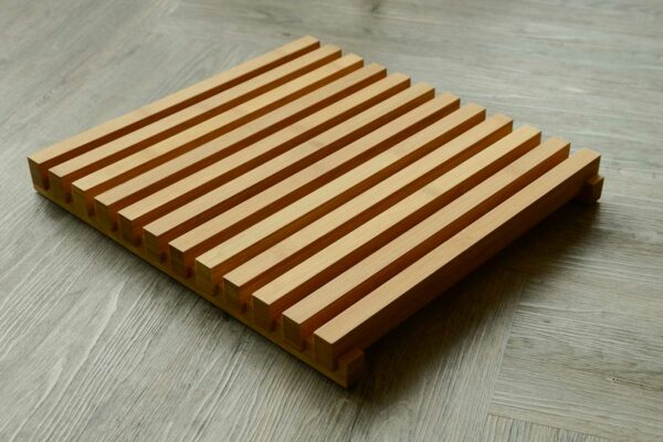 slatted bamboo step mat