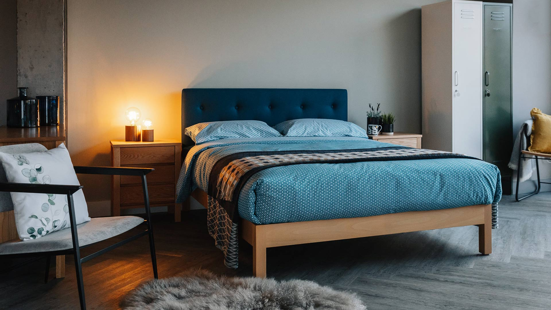Arran Buttoned Headboard Bed Natural Bed Company