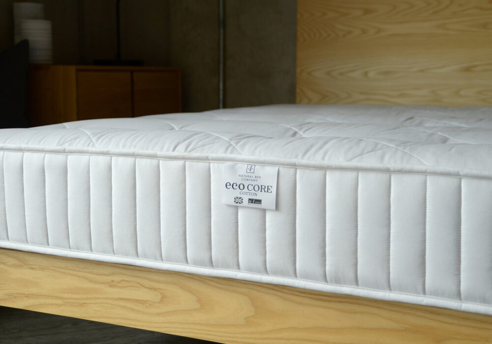 100% natural and biodegradable mattress made from latex and coconut fibres with a cotton cover