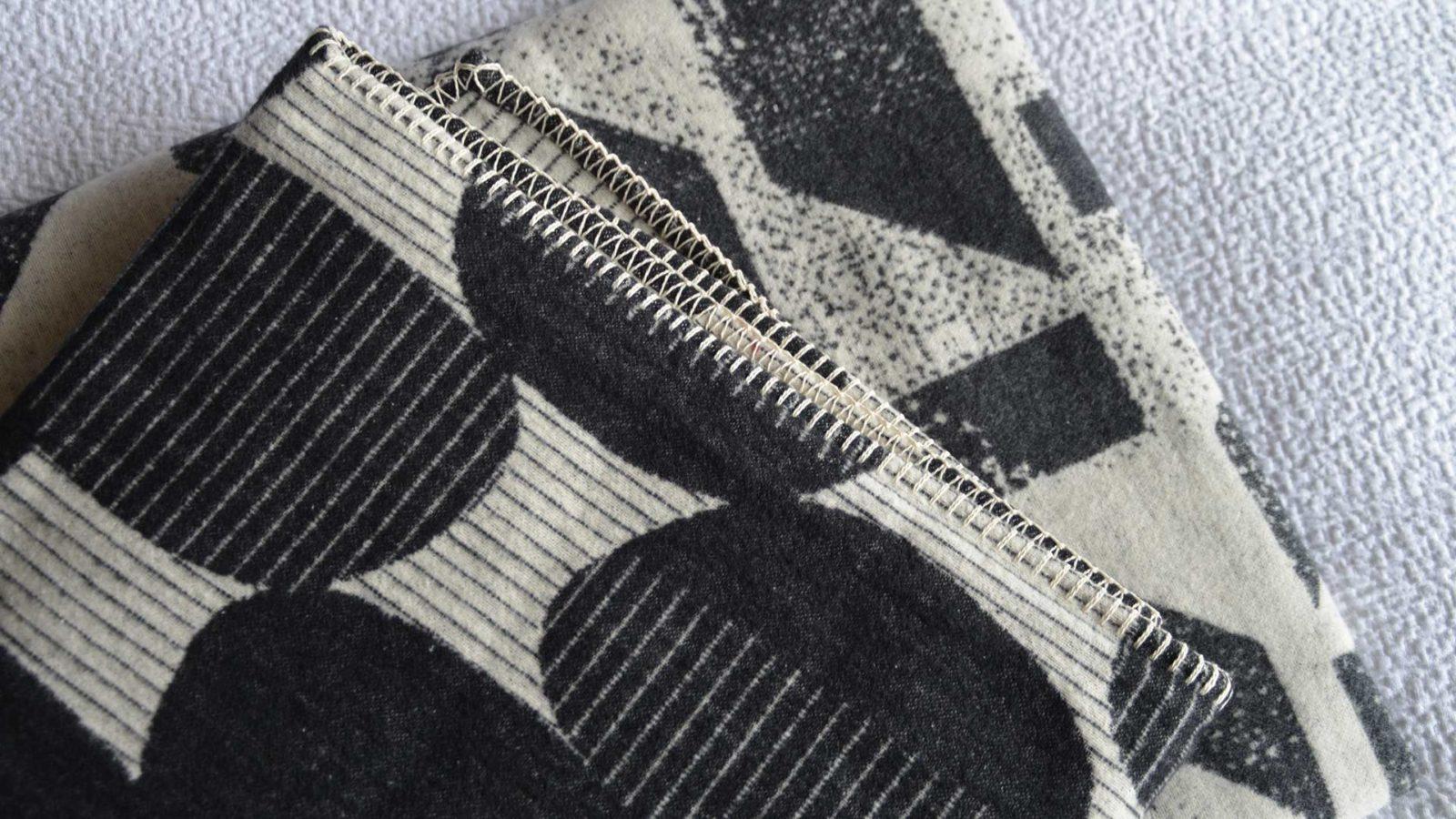 bauhaus design brushed cotton throw