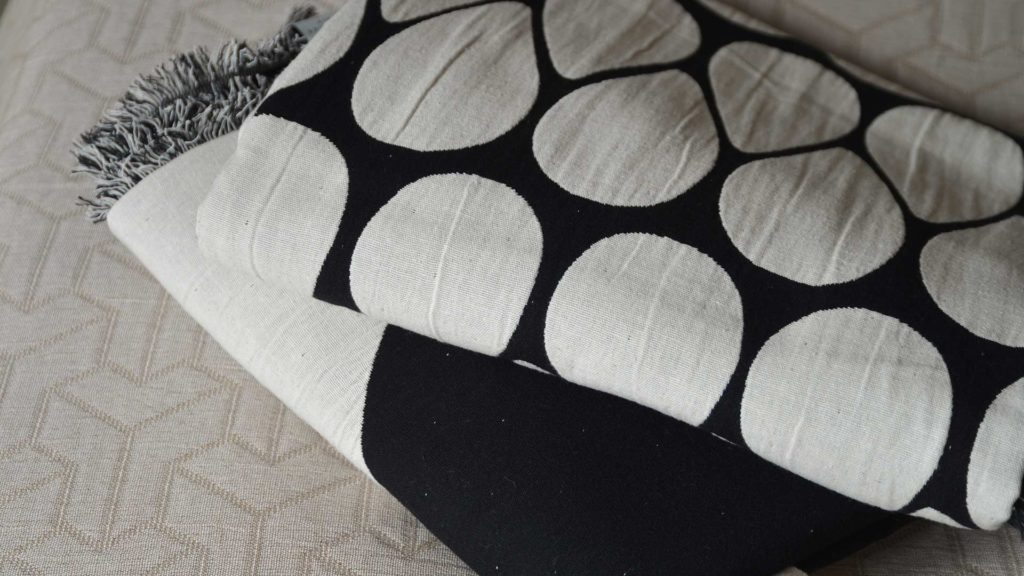 black and white throws