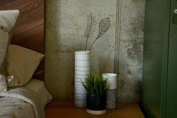 black wire flower decor