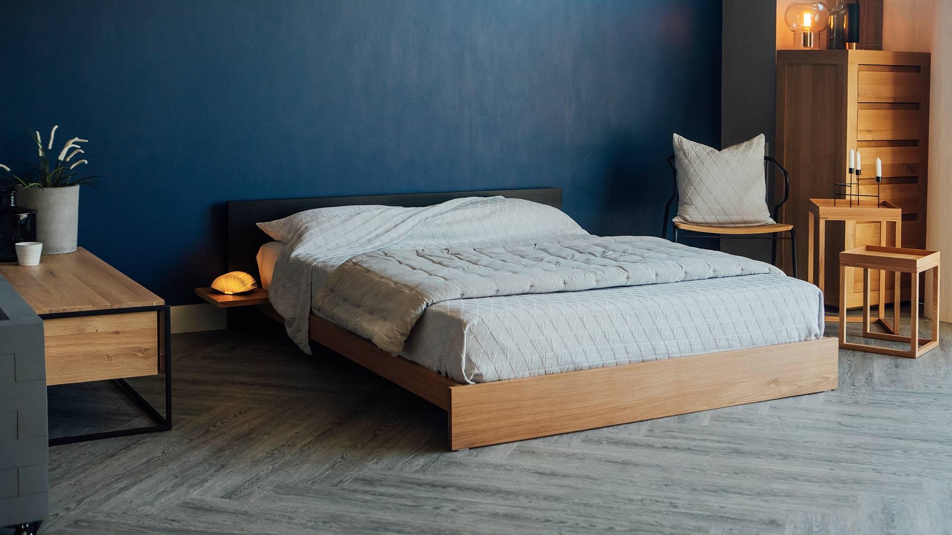 Picture of: Black Oak Kulu Modern Platform Bed Natural Bed Company