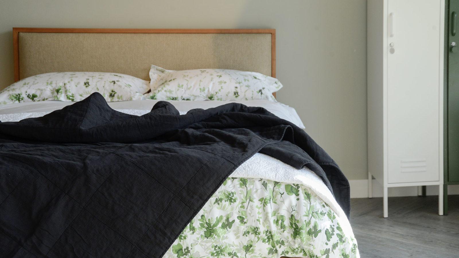 black cotton quilt