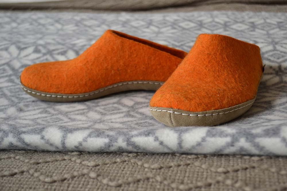 Glerups slippers - orange