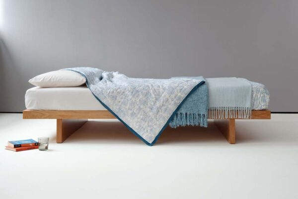Japanese style Kyoto Bed without headboard. Hand made in UK from solid wood.