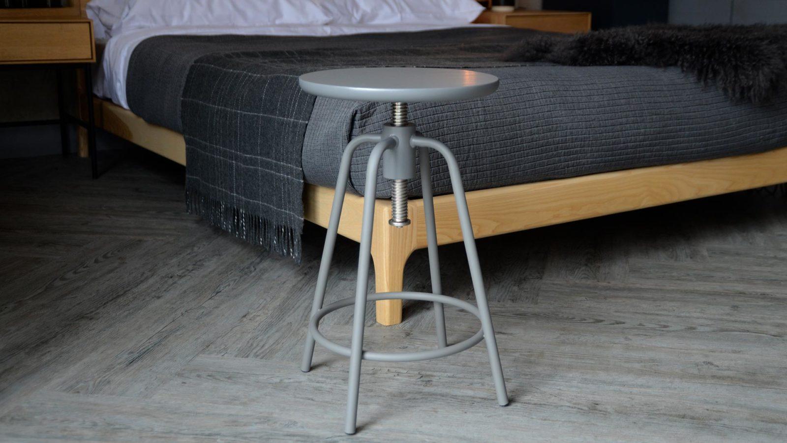 adjustable grey stool