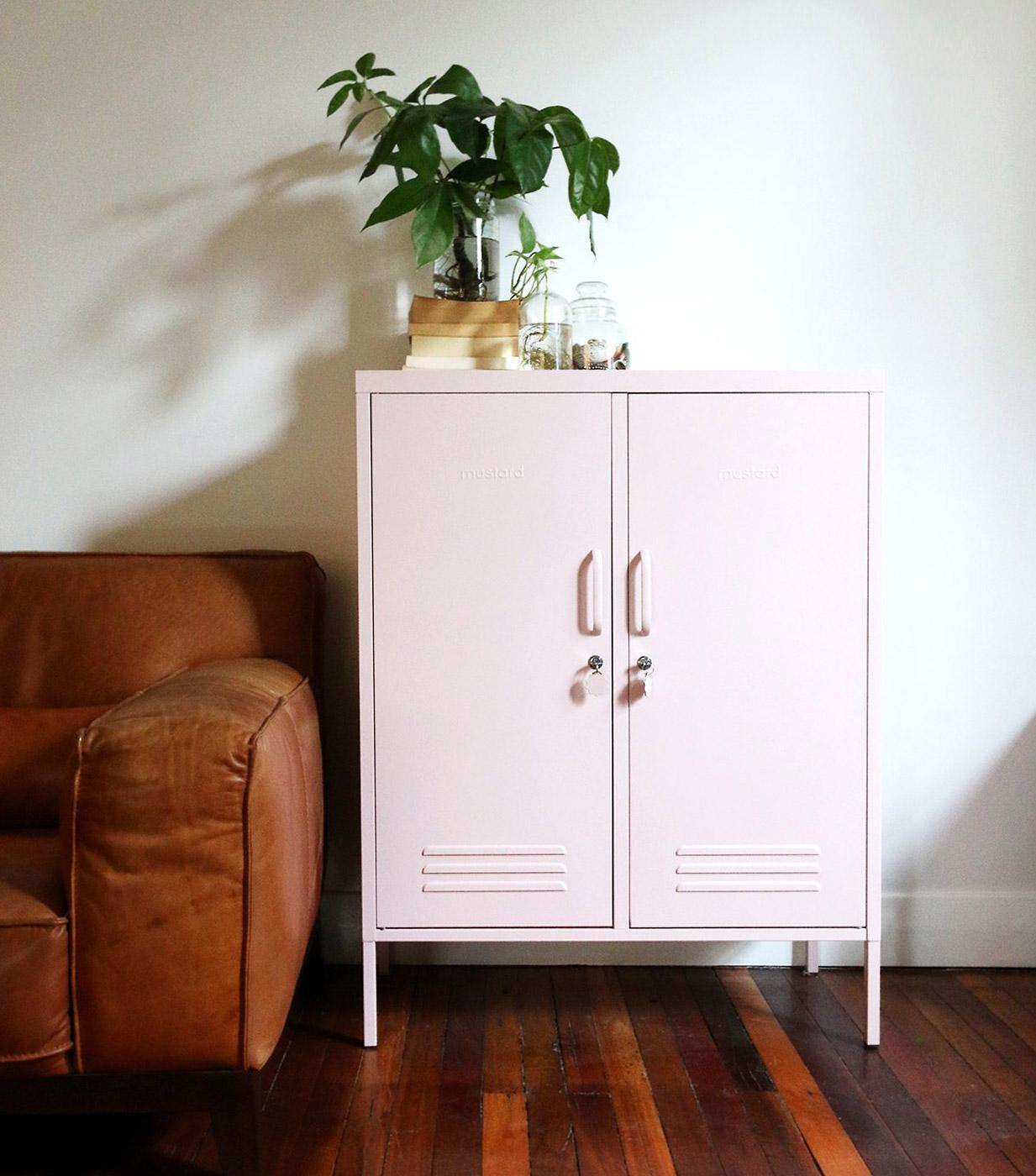 Midi storage cupboard - Blush Pink Locker