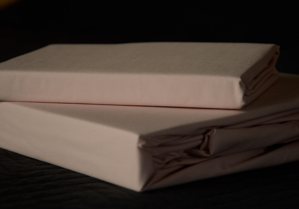 easy care sheets and pillowcases in blush pink