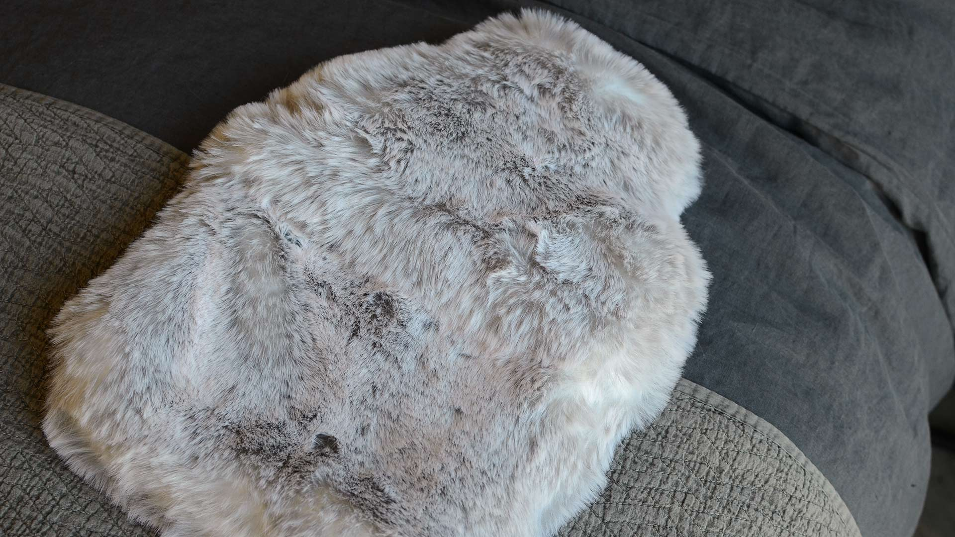 Faux Fur Hot Water Bottle Natural Bed Company