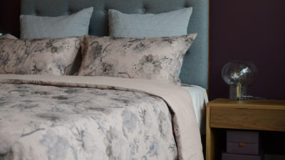 blush-vintage print-bedding-with-grey-stockholm-cushions