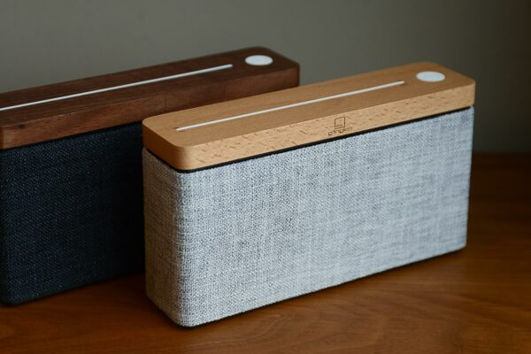 HiFi bluetooth speakers in a choice of two colour ways