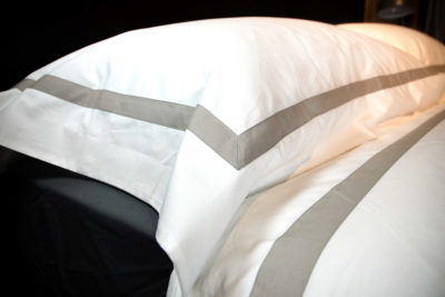 Ivory & Taupe Pillowcases - Pure Cotton Bedding
