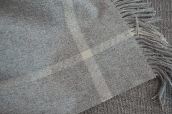 Grey & Ivory Windowpane Pattern Throws