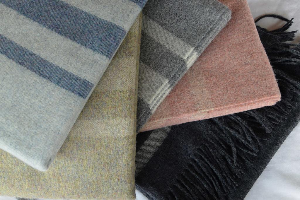 Bronte Seville stripes, luxury wool throws