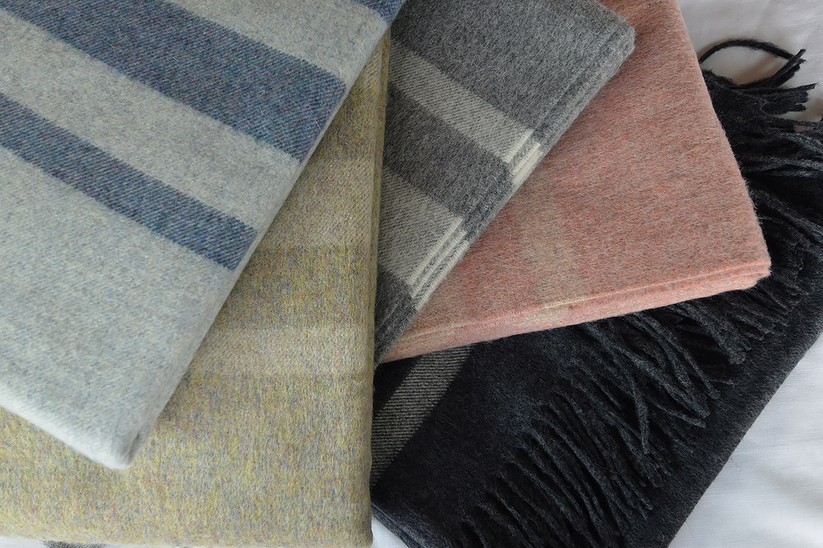 Bronte Seville stripes, luxury wool throws