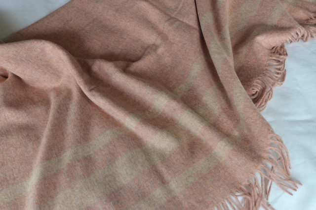 Blush Pink Throw - Bronte Seville Design Blanket
