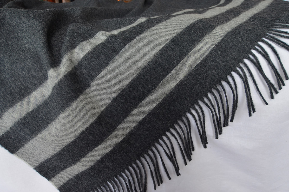 Bronte Seville Throw in Charcoal