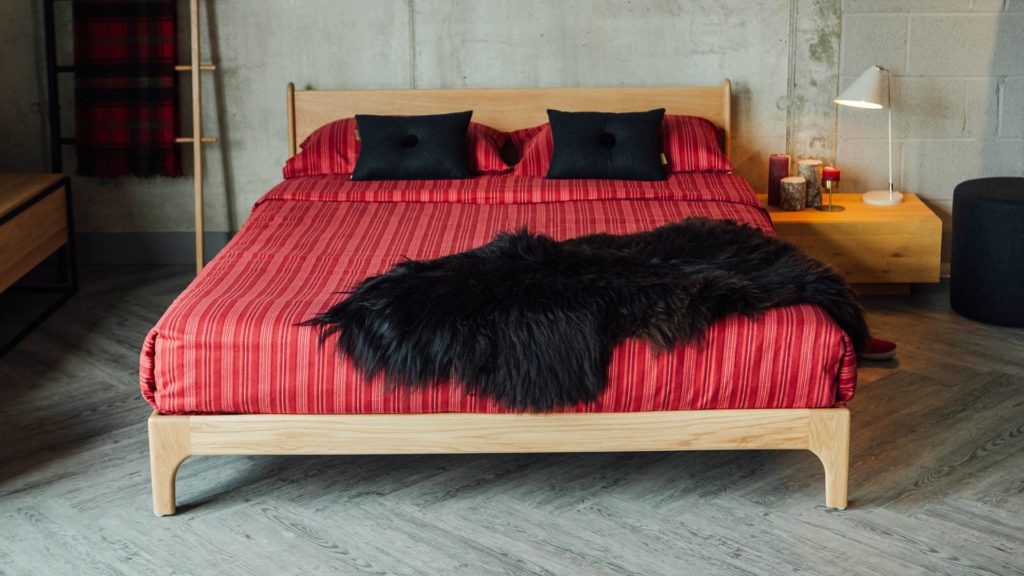 Low hand made Pimlico Bed available in a range of sizes and timbers