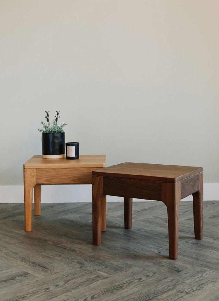 camden tables in oak and walnut