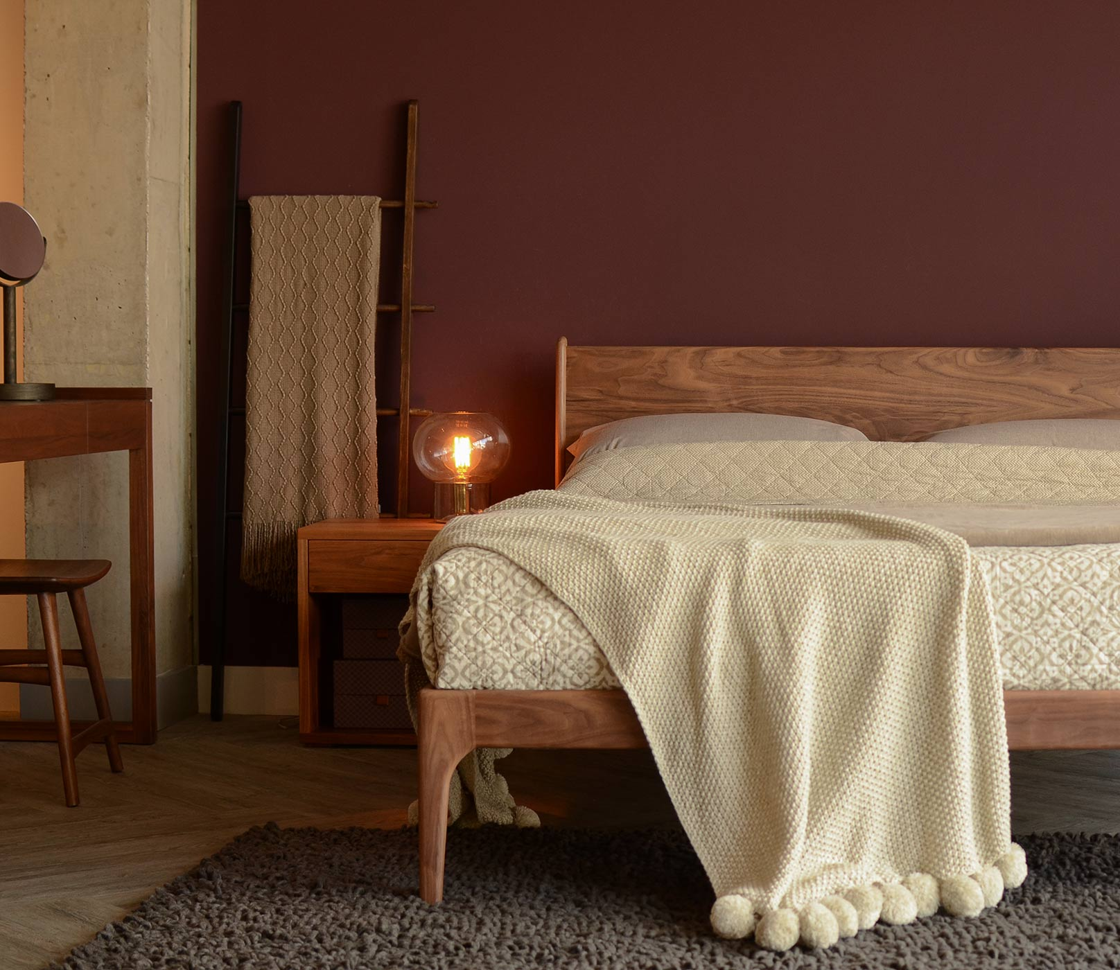Wooden Camden bed hand crafted in UK