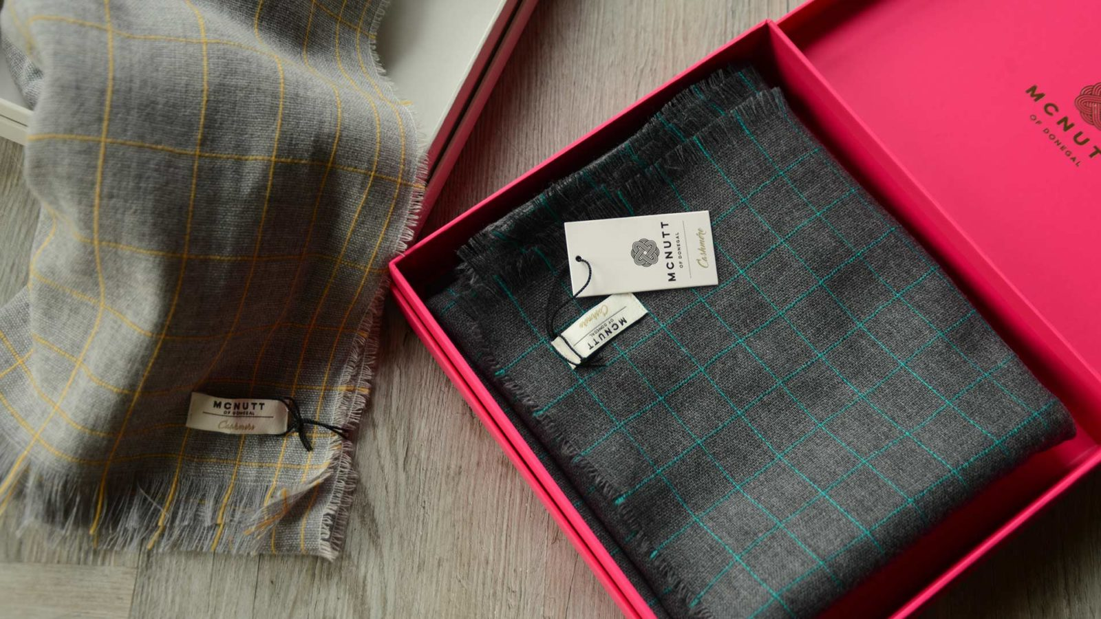 luxury cashmere and merino lightweight scarves gift boxed