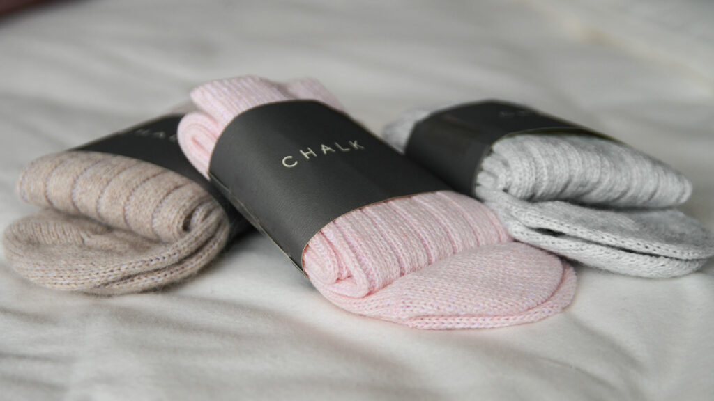 soft and cosy cashmere blend socks in 3 colours