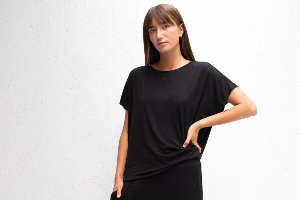 black drape top for women